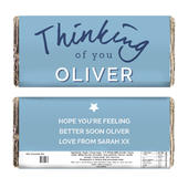 Personalised Thinking of You Milk Chocolate Bar - Personalise It!