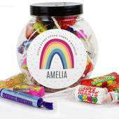 Personalised Rainbow Sweet Jar - Personalise It!