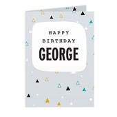 Personalised Geo Birthday Card Add Any Name - Personalise It!