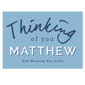 Personalised Thinking of You Card Add Any Name - Personalise It!