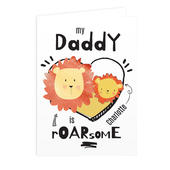 Personalised Roarsome Card Add Any Name - Personalise It!