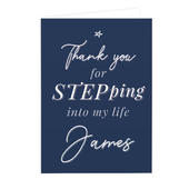 Personalised Stepdad Card Add Any Name - Personalise It!