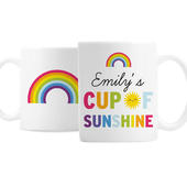 Personalised Rainbow Cup of Sunshine Mug - Personalise It!