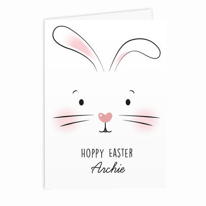 Personalised Bunny Features Card Add Any Name - Personalise It!