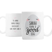 Personalised Youre A Good Egg Mug - Personalise It!