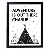 Personalised Adventure Is Out There Black Framed Print - Personalise It!