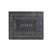 Personalised 'Together' Single Slate Coaster - Personalise It!