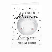 Personalised Over The Moon Card Add Any Name - Personalise It!