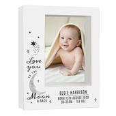 Personalised Baby To The Moon and Back 5x7 Box Photo Frame - Personalise It!
