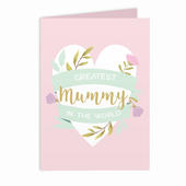 Personalised Floral Heart Card Add Any Name - Personalise It!