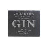 Personalised Gin & Tonic Single Slate Coaster - Personalise It!