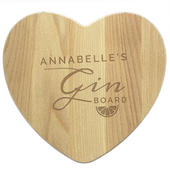 Personalised Gin Heart Chopping Board - Personalise It!