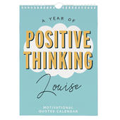 Personalised A4 Motivational Quotes Calendar - Personalise It!