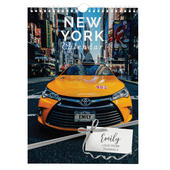 Personalised A4 New York Calendar - Personalise It!
