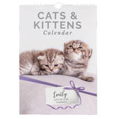 Personalised A4 Cats & Kittens Calendar - Personalise It!