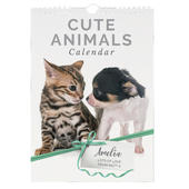 Personalised A4 Cute Animals Calendar - Personalise It!