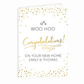Personalised Congratulations Card Add Any Name - Personalise It!