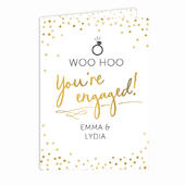Personalised Engagement Card Add Any Name - Personalise It!