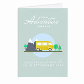 Personalised Leaving, Retirement, Adventure Card Add Any Name - Personalise It!