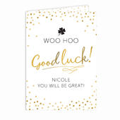 Personalised Good Luck Card Add Any Name - Personalise It!