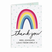 Personalised Rainbow Thank You Card Add Any Name - Personalise It!