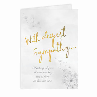 Personalised Deepest Sympathy Card Add Any Name - Personalise It!