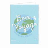 Personalised Bon Voyage Card Add Any Name - Personalise It!