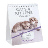 Personalised Cats and Kittens Desk Calendar - Personalise It!
