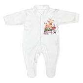 Personalised Festive Fawn 0-3 Months Baby Gown - Personalise It!