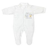 Personalised Tiny Tatty Teddy I Heart 0-3 Months Babygrow - Personalise It!