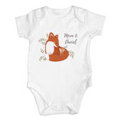 Personalised Mummy and Me Fox 0-3 Months Baby Vest - Personalise It!