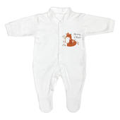 Personalised Mummy and Me Fox 0-3 Months Babygrow - Personalise It!