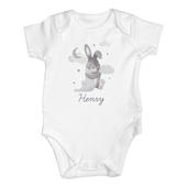 Personalised Baby Bunny 0-3 Months Baby Vest - Personalise It!