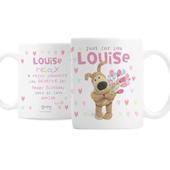 Personalised Boofle Birthday Flowers Mug - Personalise It!