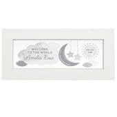 Personalised New Baby Moon & Stars Name Frame - Personalise It!