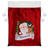 Personalised Christmas Santa Red Sack - Personalise It!