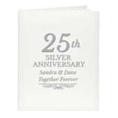 Personalised 25th Silver Anniversary Traditional Album - Personalise It!