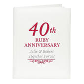 Personalised 40th Ruby Anniversary Traditional Album - Personalise It!