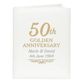 Personalised 50th Golden Anniversary Traditional Album - Personalise It!