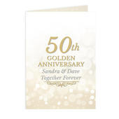 Personalised 50th Golden Anniversary Card Add Any Name - Personalise It!