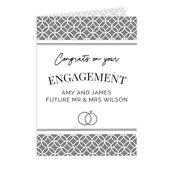 Personalised Couple Congratulations Card Add Any Name - Personalise It!