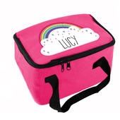 Personalised Rainbow Pink Lunch Bag - Personalise It!