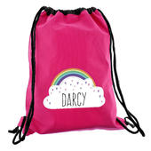 Personalised Rainbow Pink Swim & Kit Bag - Personalise It!