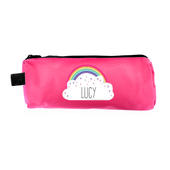 Personalised Rainbow Pink Pencil Case - Personalise It!
