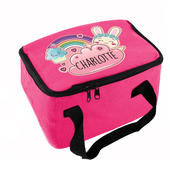Personalised Cute Bunny Pink Lunch Bag - Personalise It!