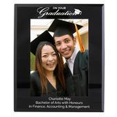Personalised Graduation Black Glass 5x7 Photo Frame - Personalise It!