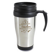 Personalised Amazing Teacher Travel Mug - Personalise It!