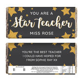 Personalised You Are A Star Teacher Milk Chocolate Bar - Personalise It!