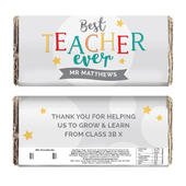 Personalised Best Teacher Ever Milk Chocolate Bar - Personalise It!