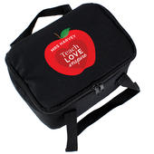 Personalised Teachers Apple Black Lunch Bag - Personalise It!
